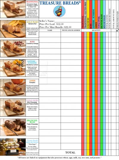 Gourmet Sweet Breads - Fundraising Order Form