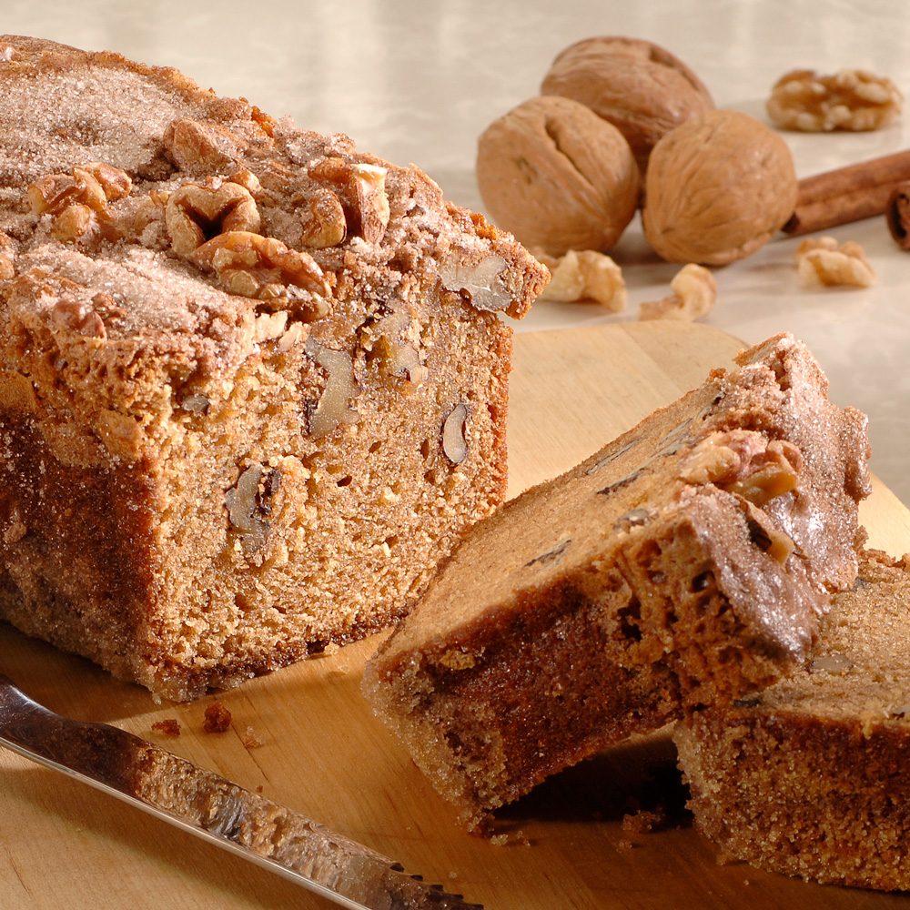 Cinnamon Sugar Walnut Bread