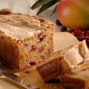 Cranberry Pineapple Mango Fruit Bread