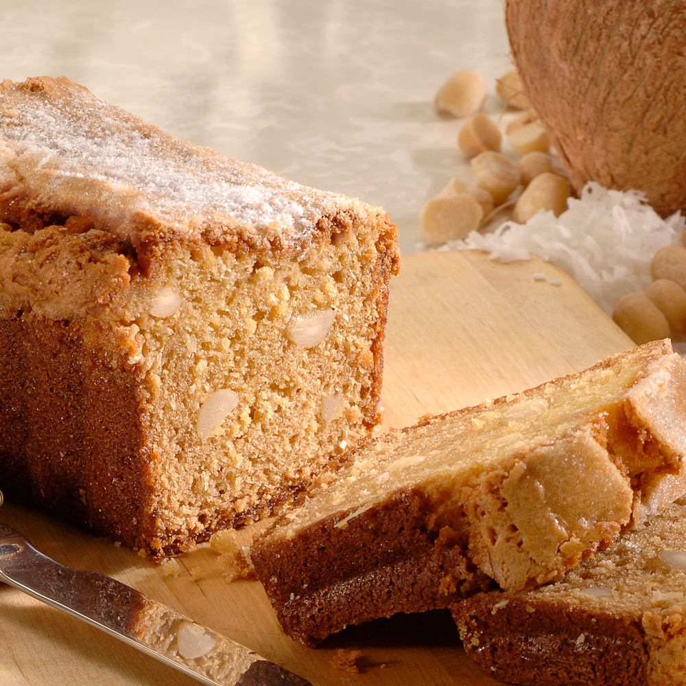Coconut Macadamia Nut Bread